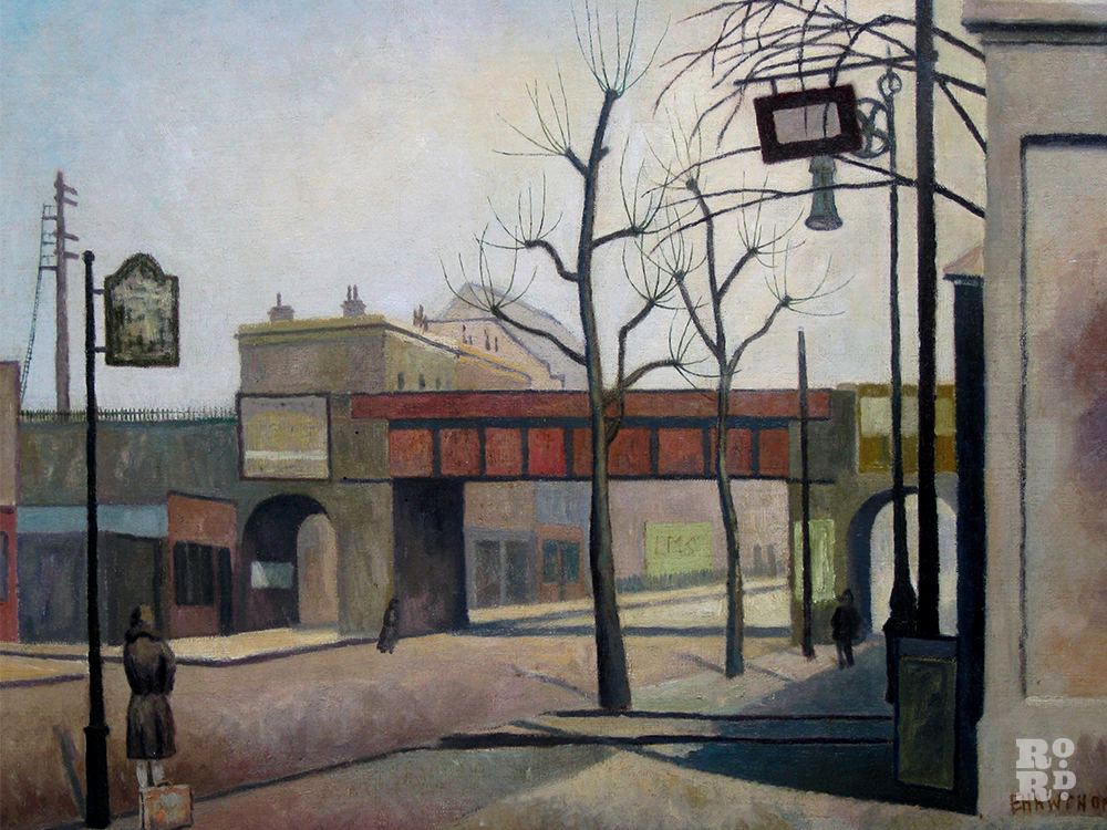 Bow Road by Elwin Hawthorne, an East London Group painter