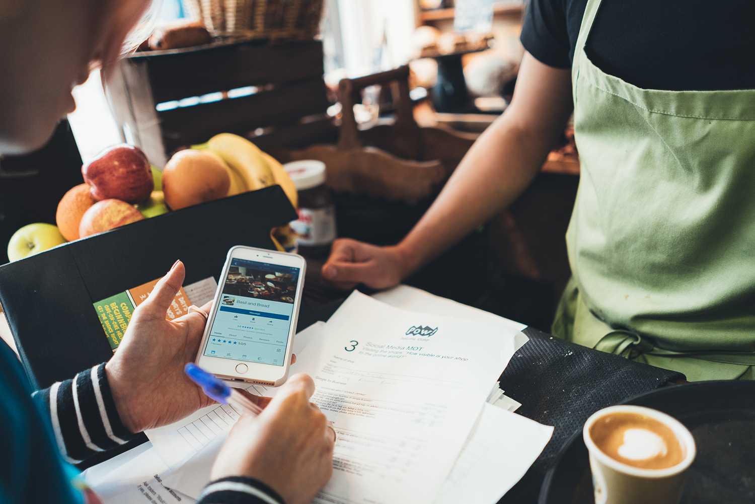 Consultation of local high street businesses about digital marketing needs