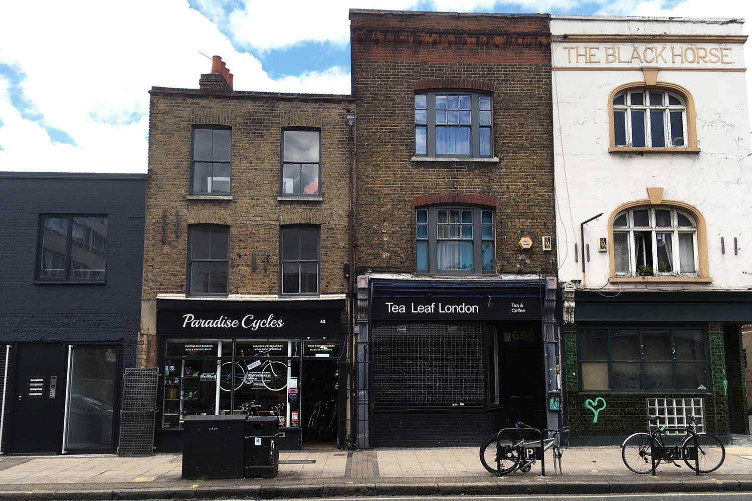 Shopfronts in Globe Town, East London
