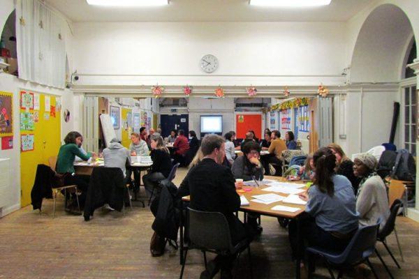 Local people attending public consultation
