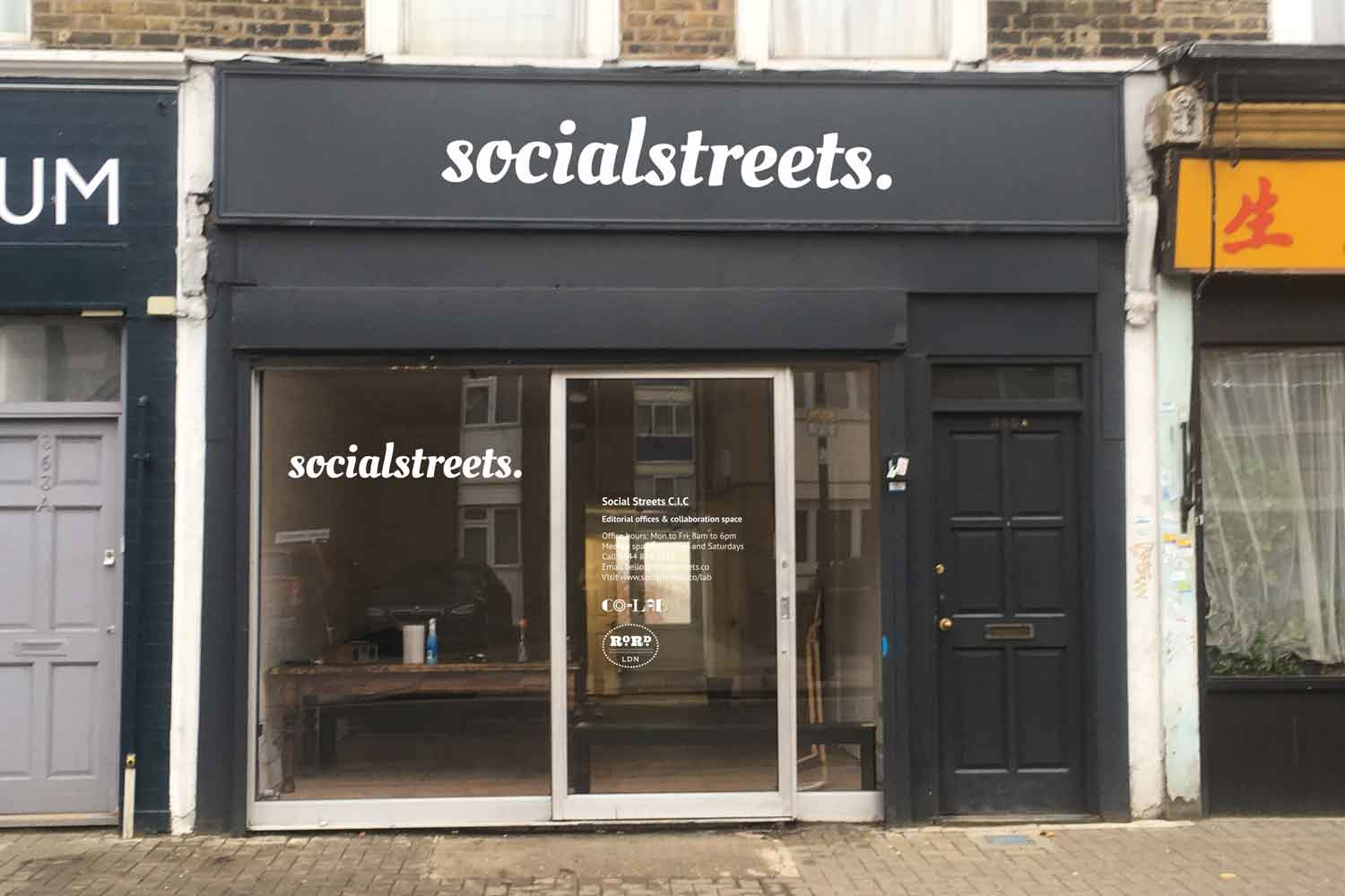 Shopfront of Social Streets Co-Lab 365 Roman Road