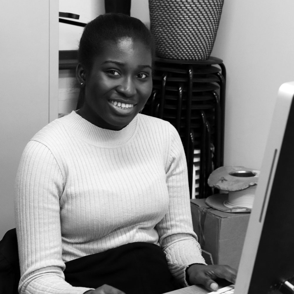 Edna Bannor on a work placement at Social Streets